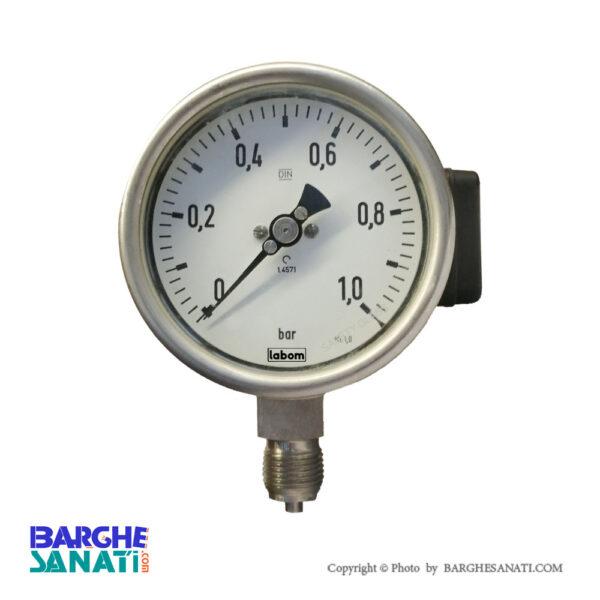 گیج فشار لوله بوردن مدل CK 4500 برند LABOM